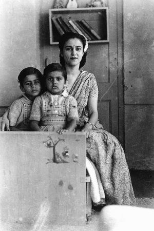 Vivan, Navina, Indira, c 1948, Simla
